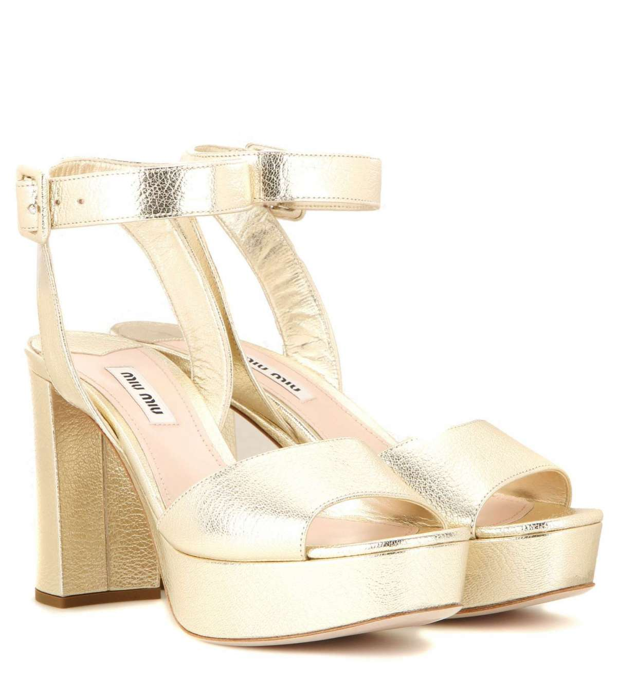 Sandali oro Miu Miu
