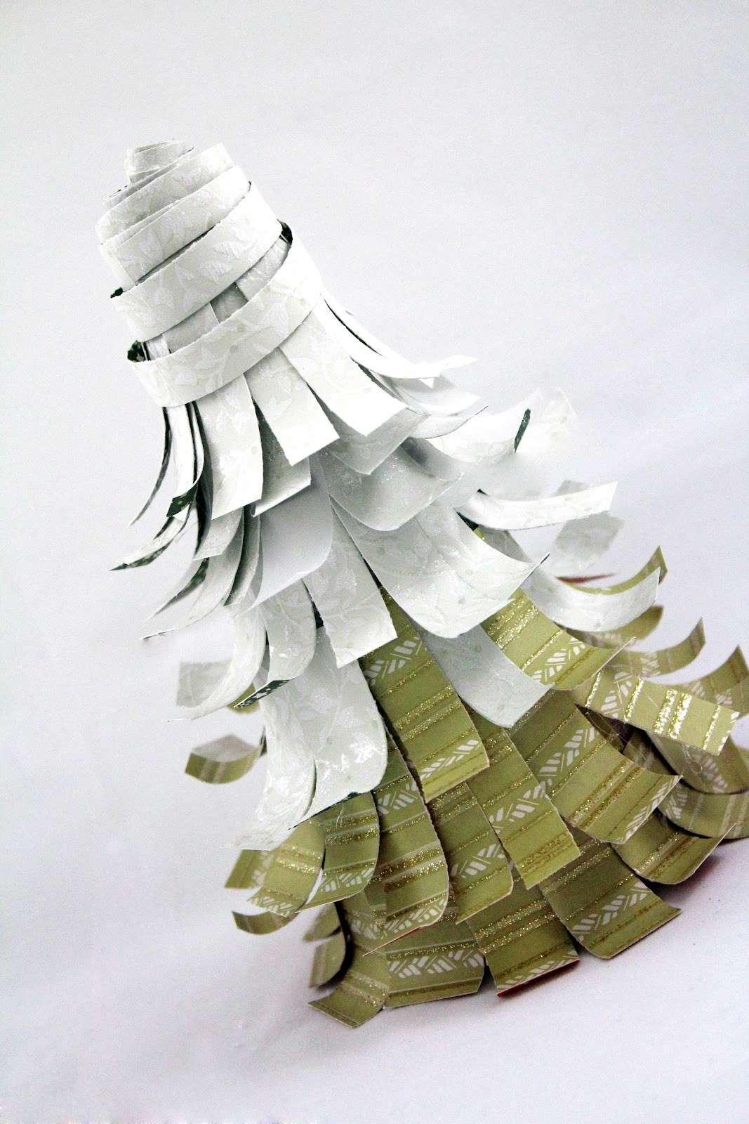 Albero Natale carta bicolor