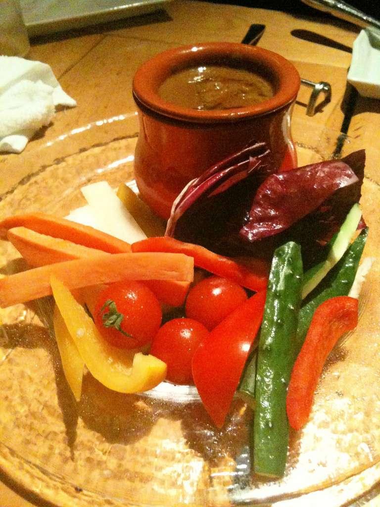 Bagna cauda con verdure