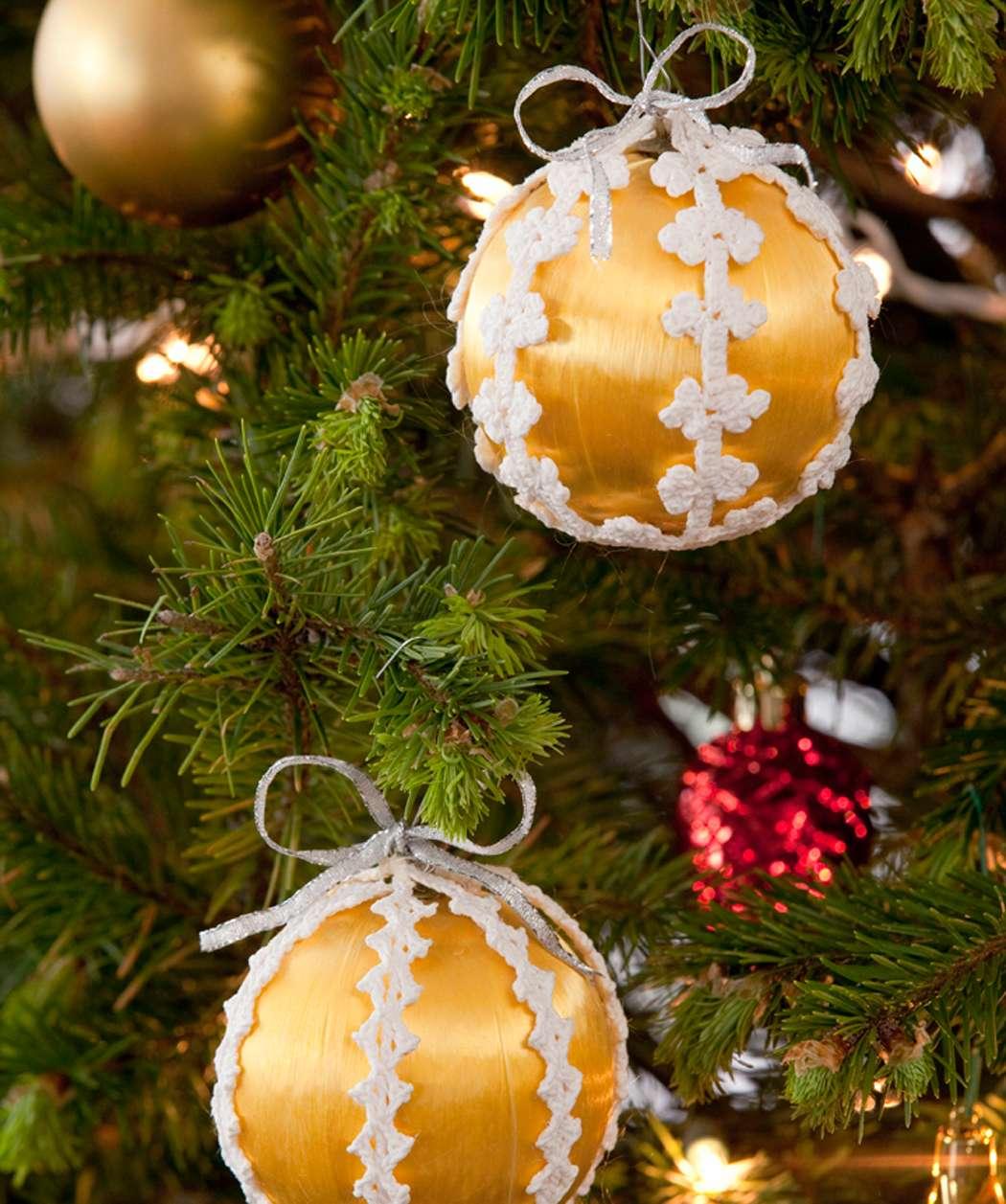 Bordino crochet per le palline di Natale