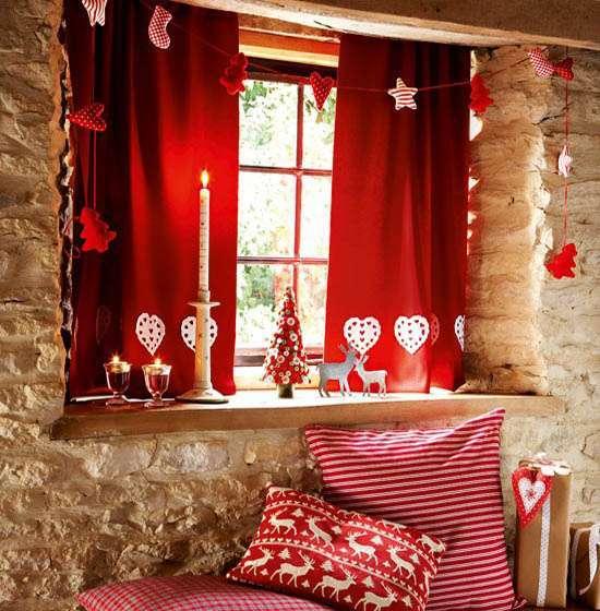 Decorazioni natalizie in stile country