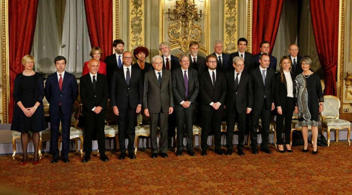 I 18 ministri del Governo Gentiloni