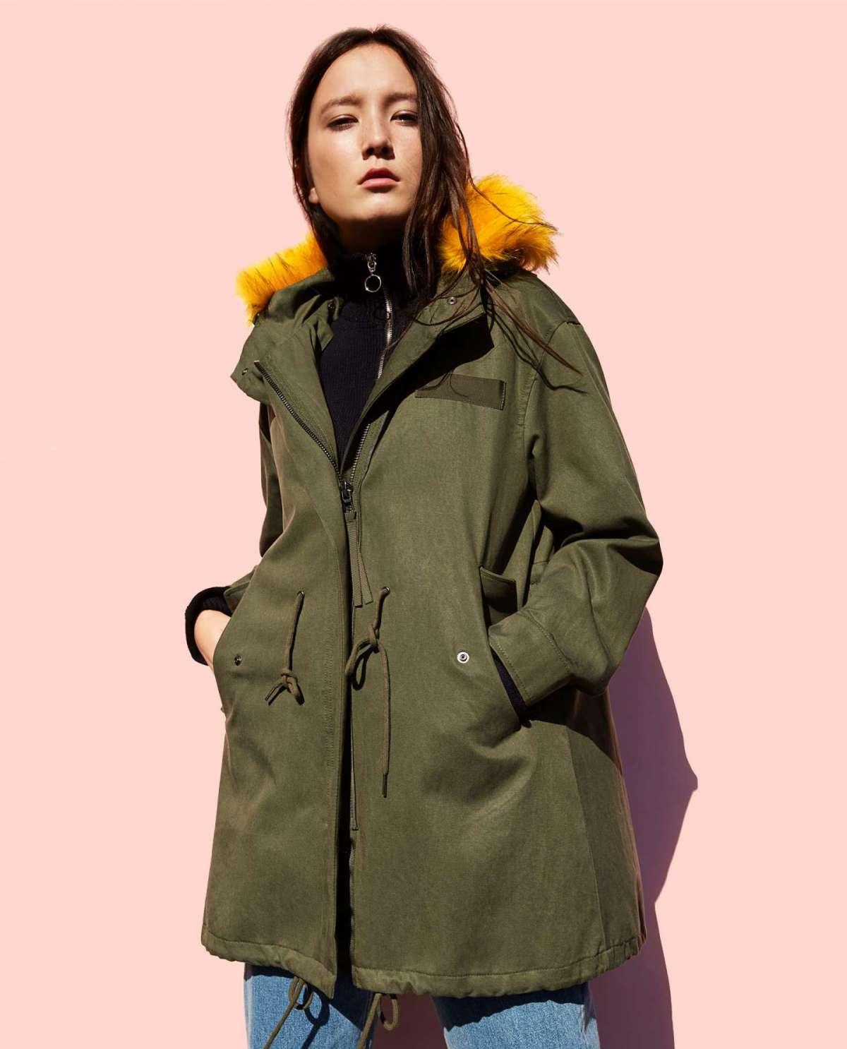 Parka con pelliccia Zara