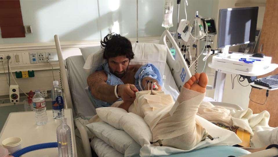 Walter Nudo ricoverato in ospedale
