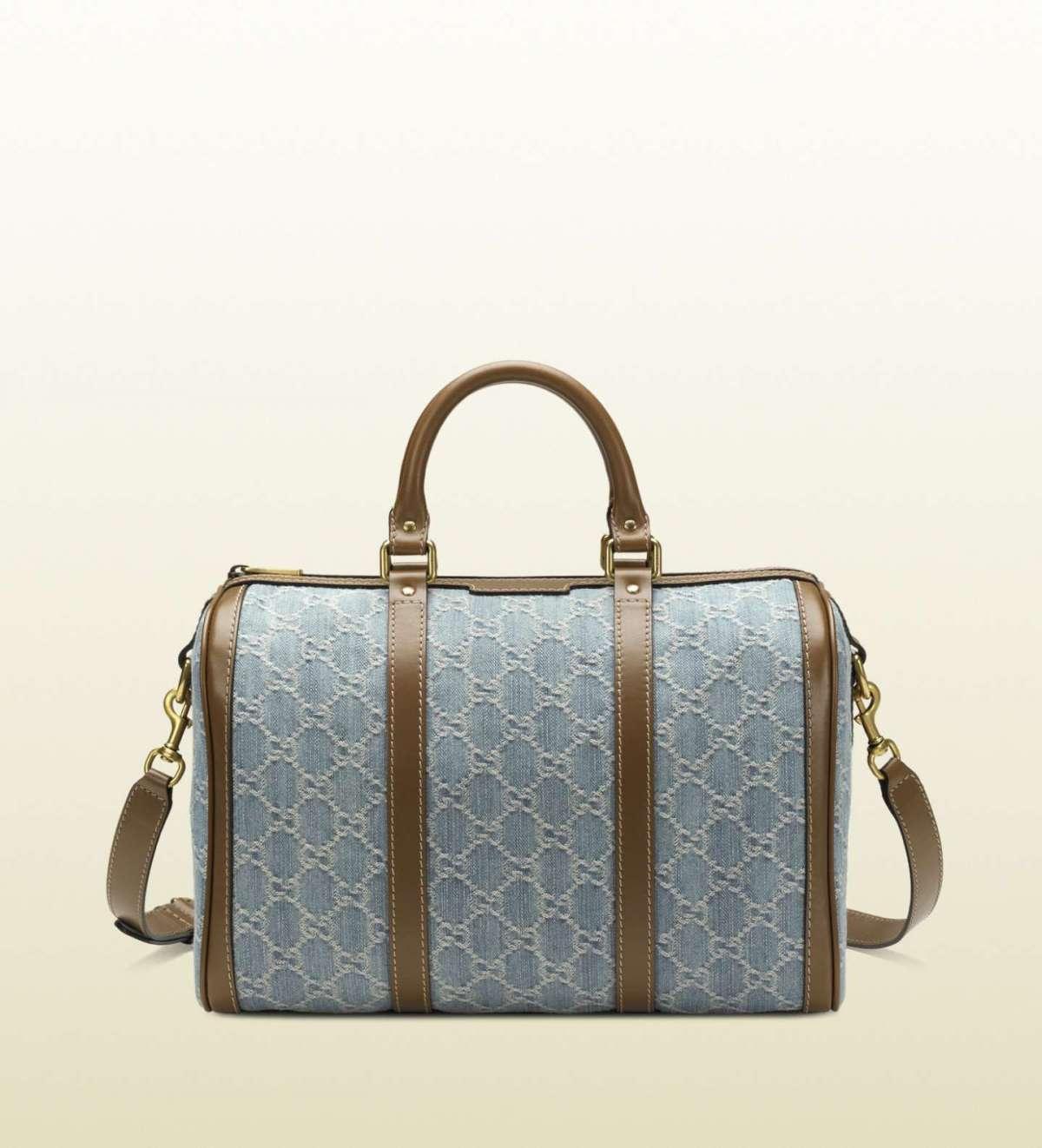 Bauletto blu Gucci Vintage Web