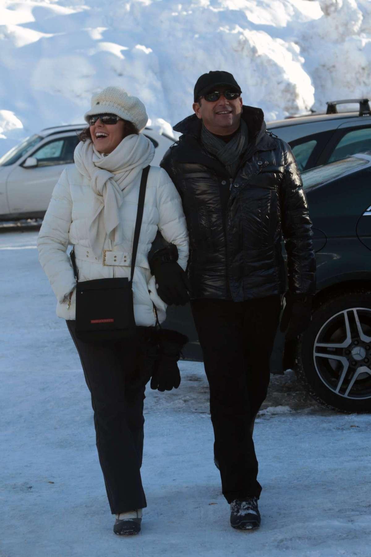 Carlo Conti e Francesca Vaccaro a Courmayeur