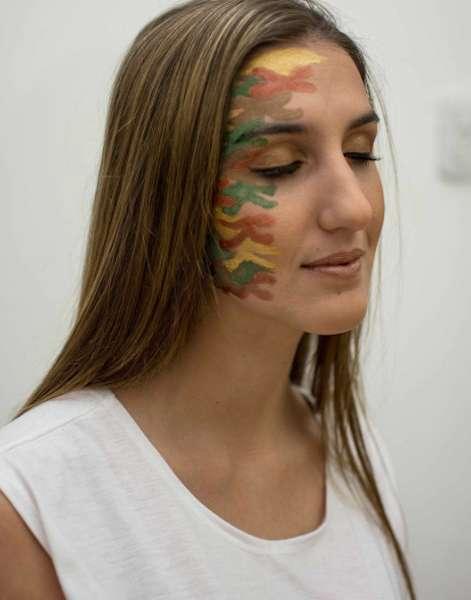 Effetto camouflage su metà volto