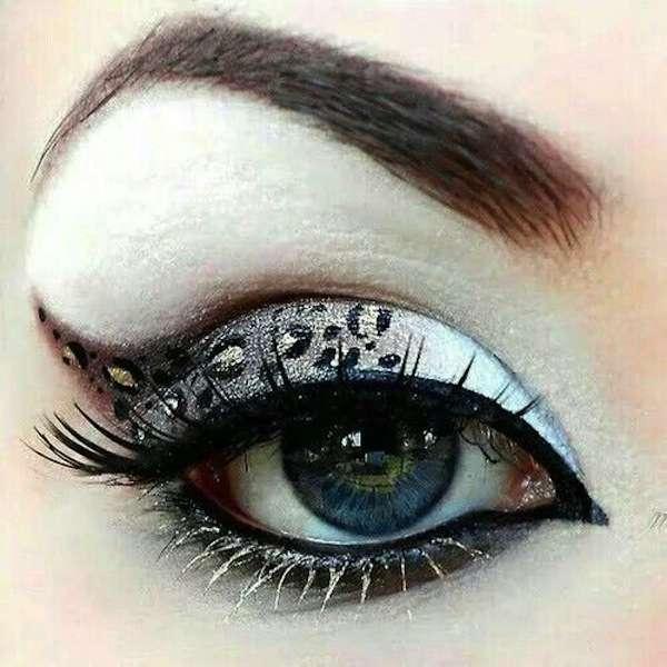 Elegante trucco animalier per gli occhi