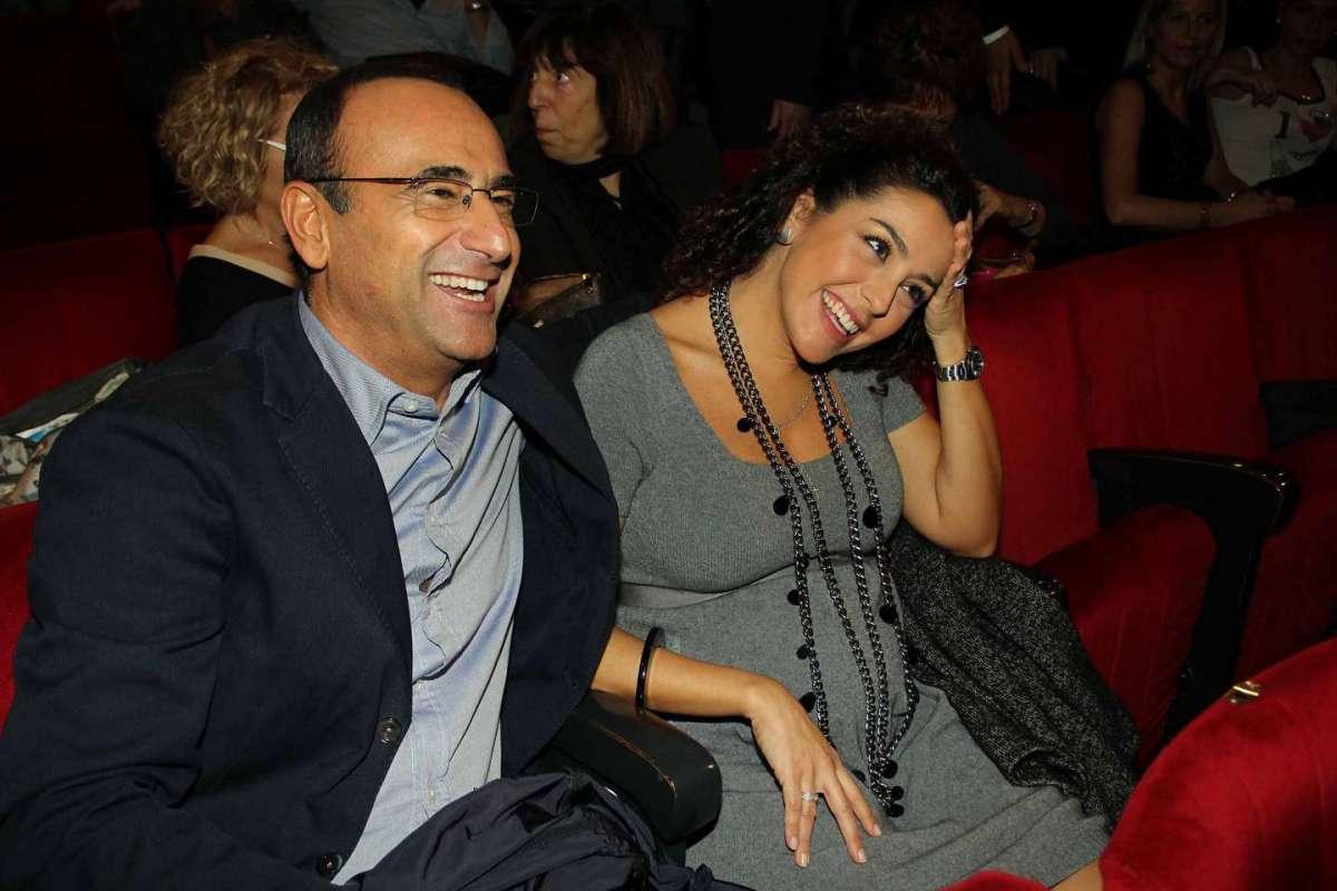 Francesca e Carlo a teatro a Roma