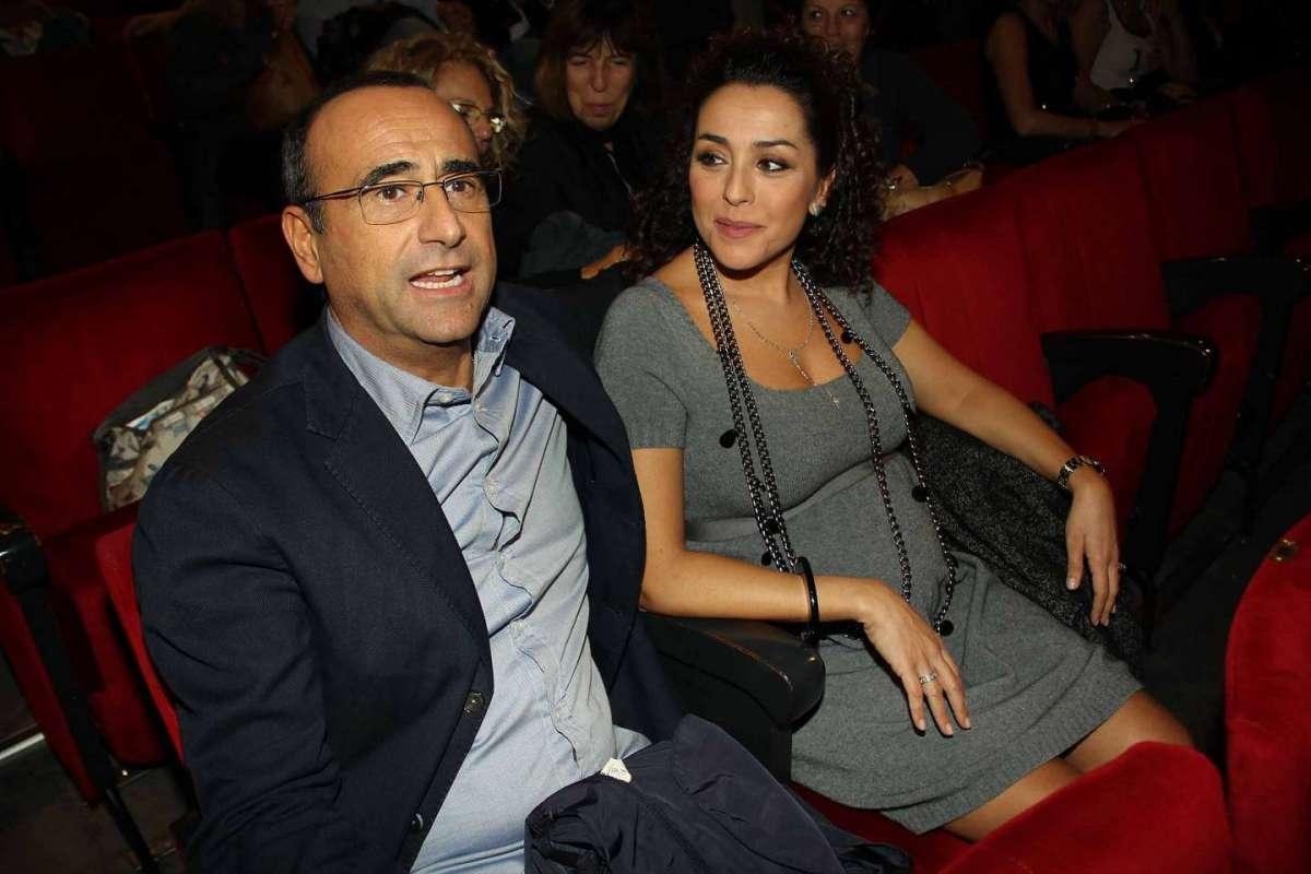 Francesca Vaccaro con il marito a Roma