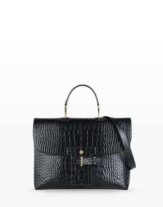 Handbag in rettile Trussardi