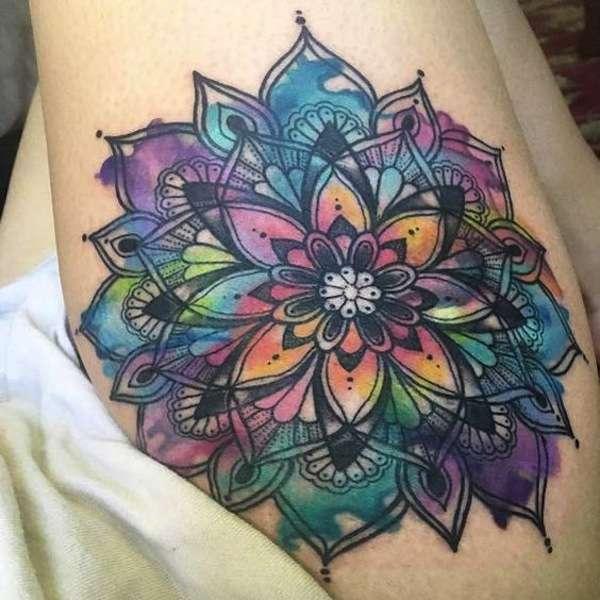 La bellezza di un mandala colorato