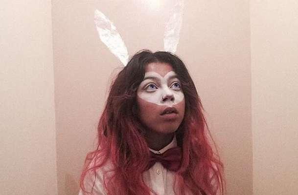 Make up da coniglietta a mascherina