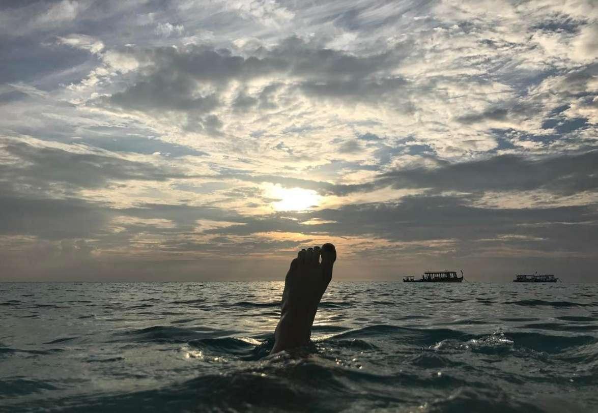 Bagno al tramonto per Aurora