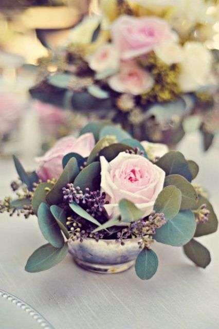 Centrotavola di San Valentino romantico