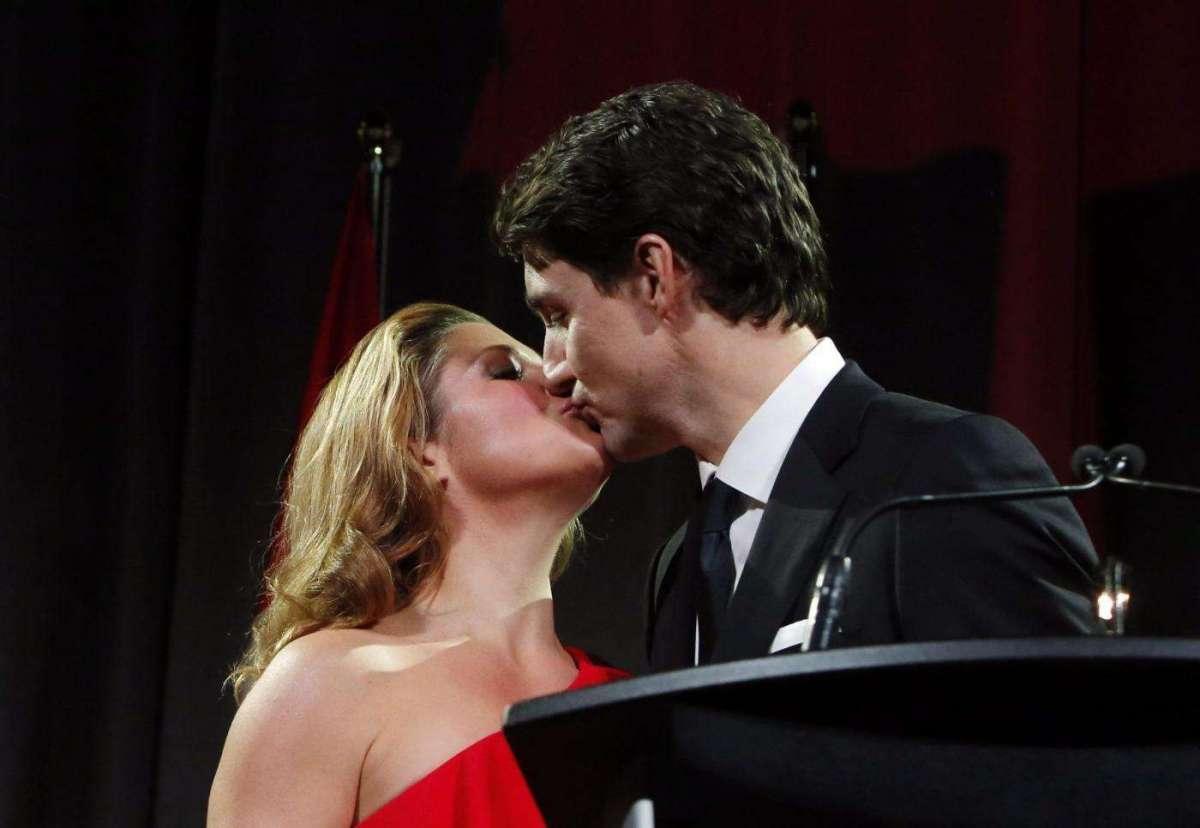 Justin Trudeau e Sophie Grégoire al party del partito Liberale