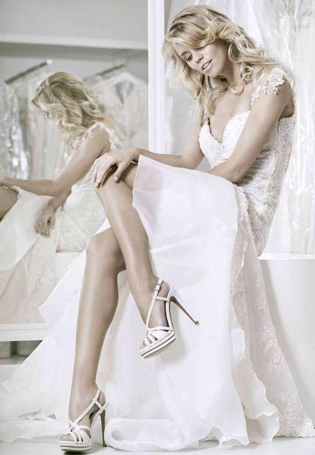 Sandali da sposa con plateau