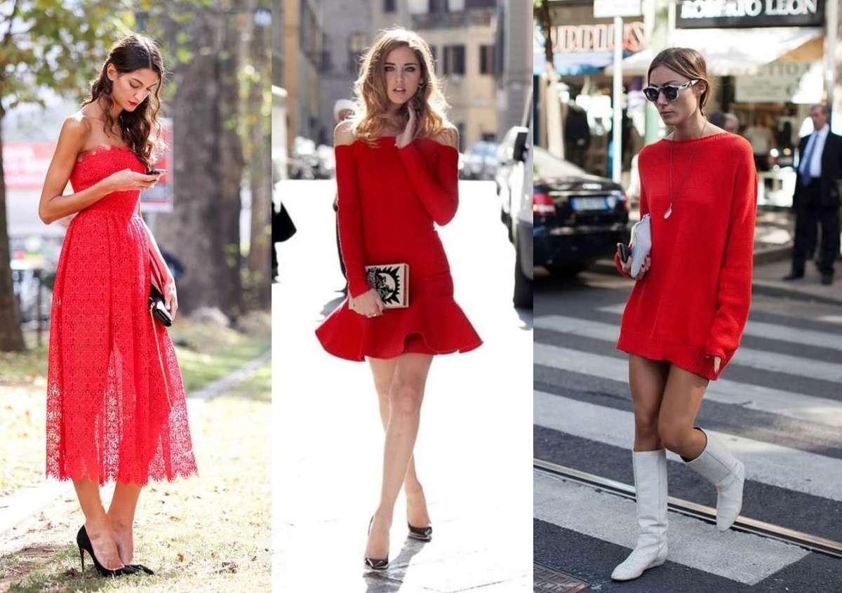 Come abbinare un abito rosso