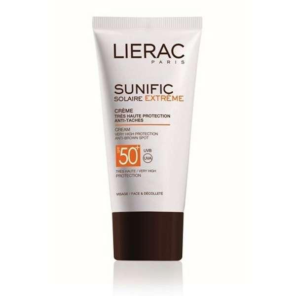 Crema solare viso protezione 50 antimacchie Lierac