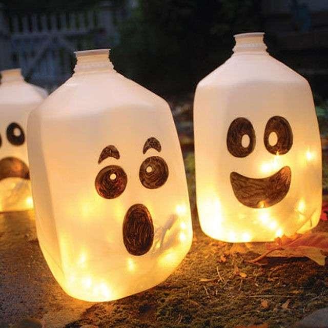 Lanterne riciclate con bottiglie di plastica