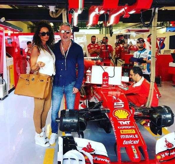 Raffaella e Alessandro tifosi della Ferrari