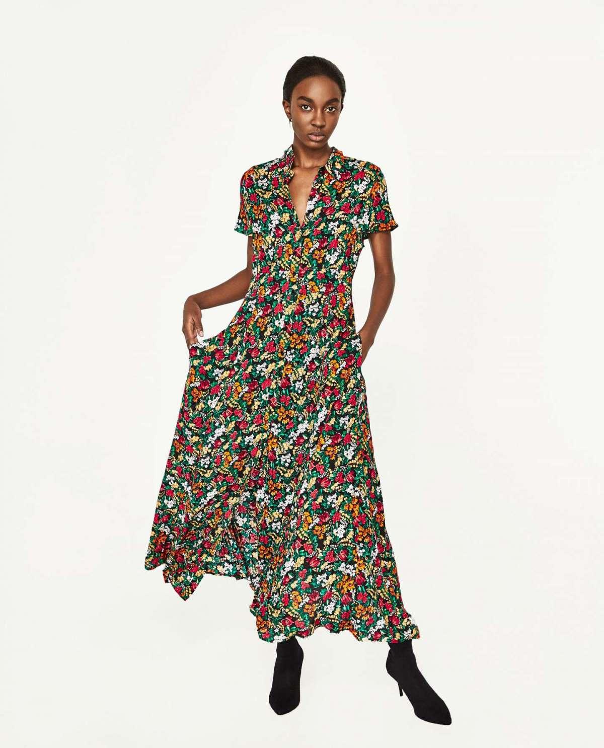 Vestito lungo a fiori Zara