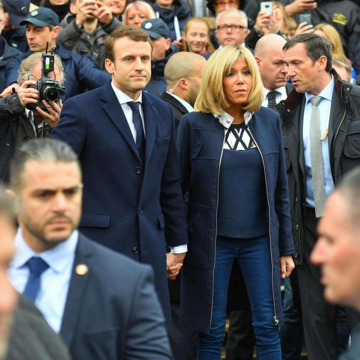 Brigitte Trogneux nel giorno delle elezioni