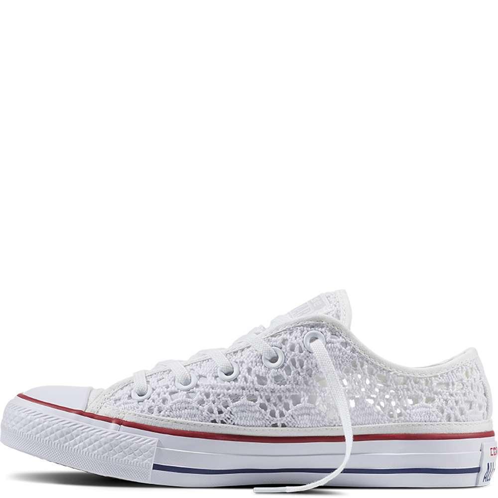 Converse All Star Crochet bianche basse