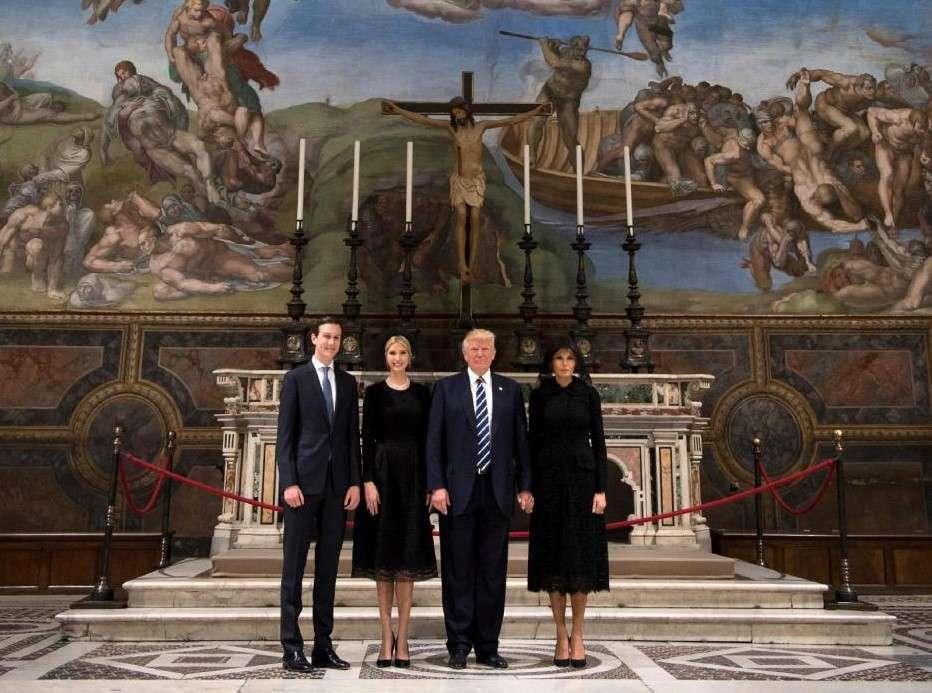 Donald, Melania e Ivanka Trump a Roma