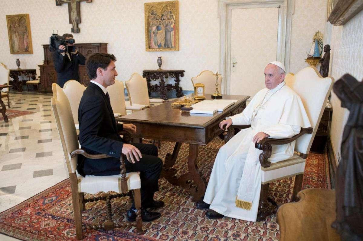 Il dialogo di Trudeau con il Santo Padre