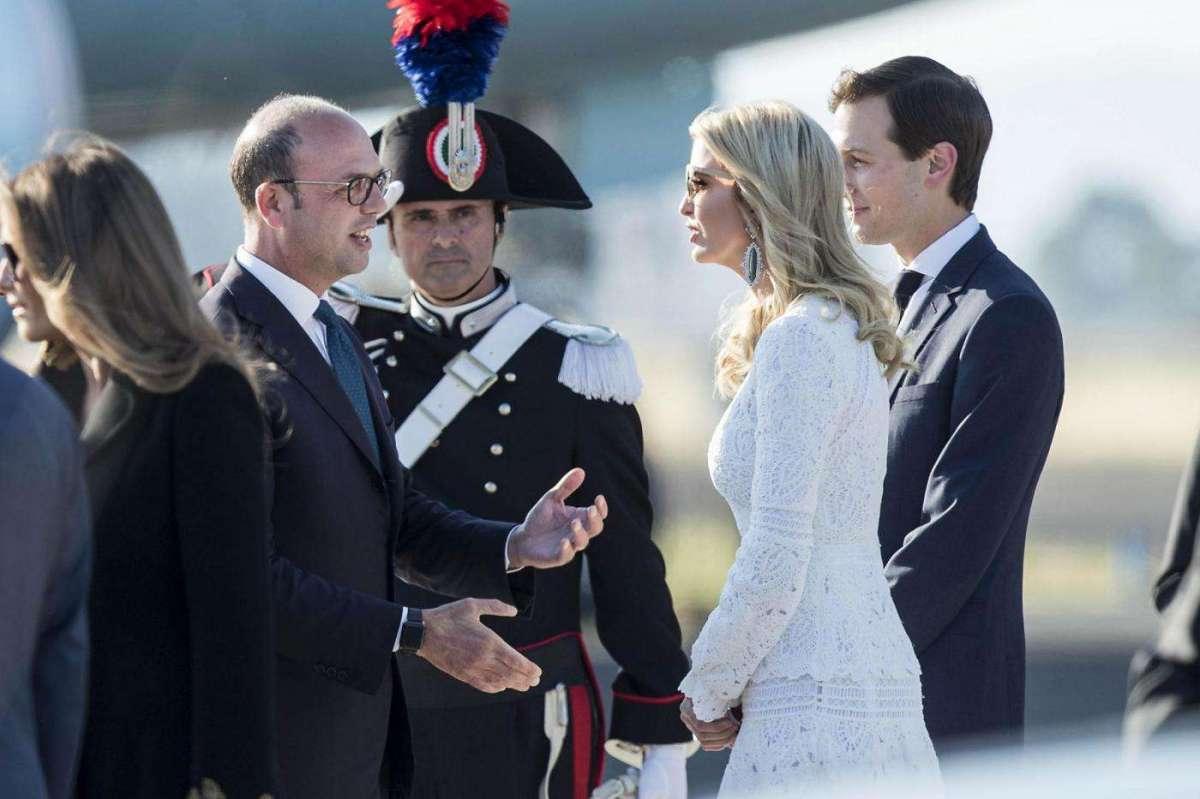 Il saluto di Alfano alla famiglia presidenziale Usa