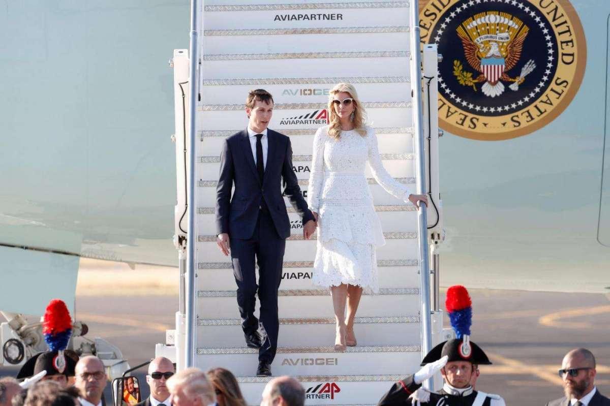 Ivanka Trump e suo marito a Fiumicino