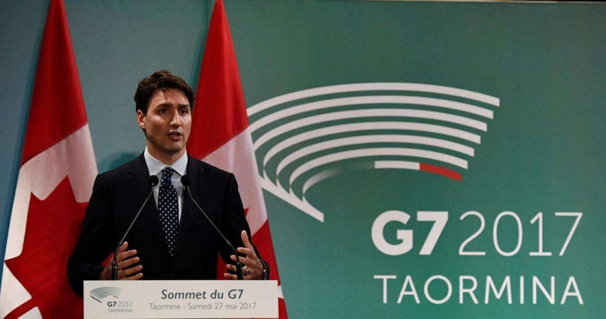 Justin Trudeau in Italia con Sophie Grégoire