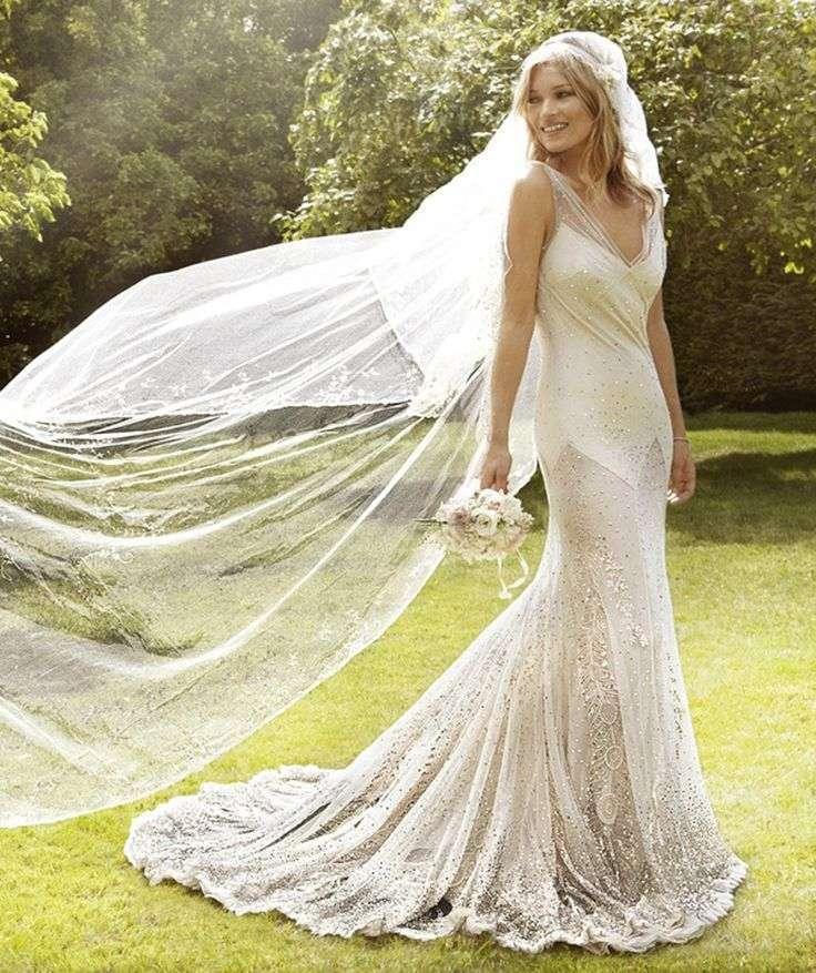 L'abito da sposa di Kate Moss