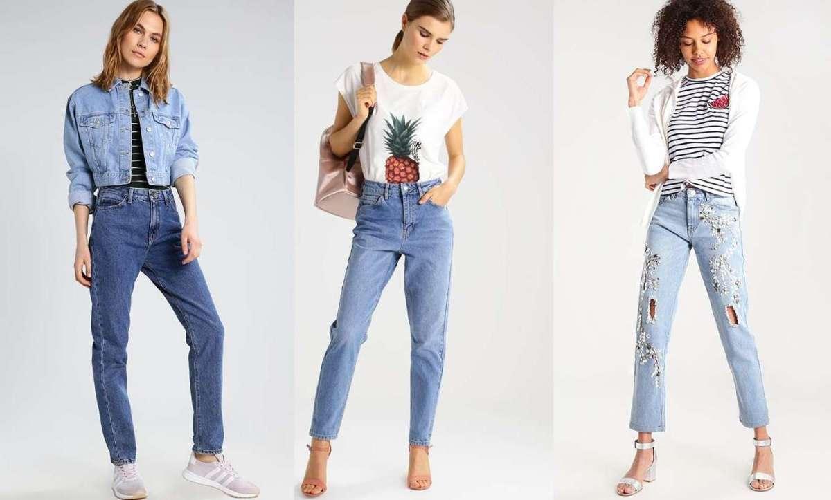 Mom jeans da donna a vita alta