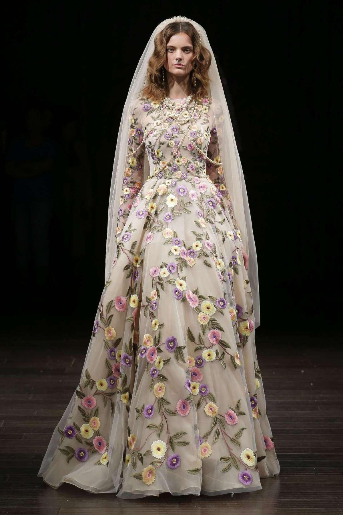 Abito da sposa a fiori Naeem Khan