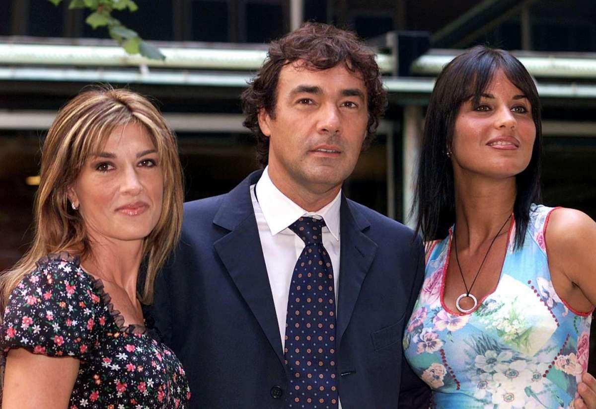 Antonella Mosetti con i colleghi di Casa Raiuno