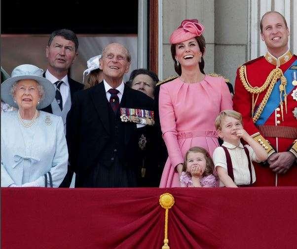 La Regina Elisabetta e la sua famiglia