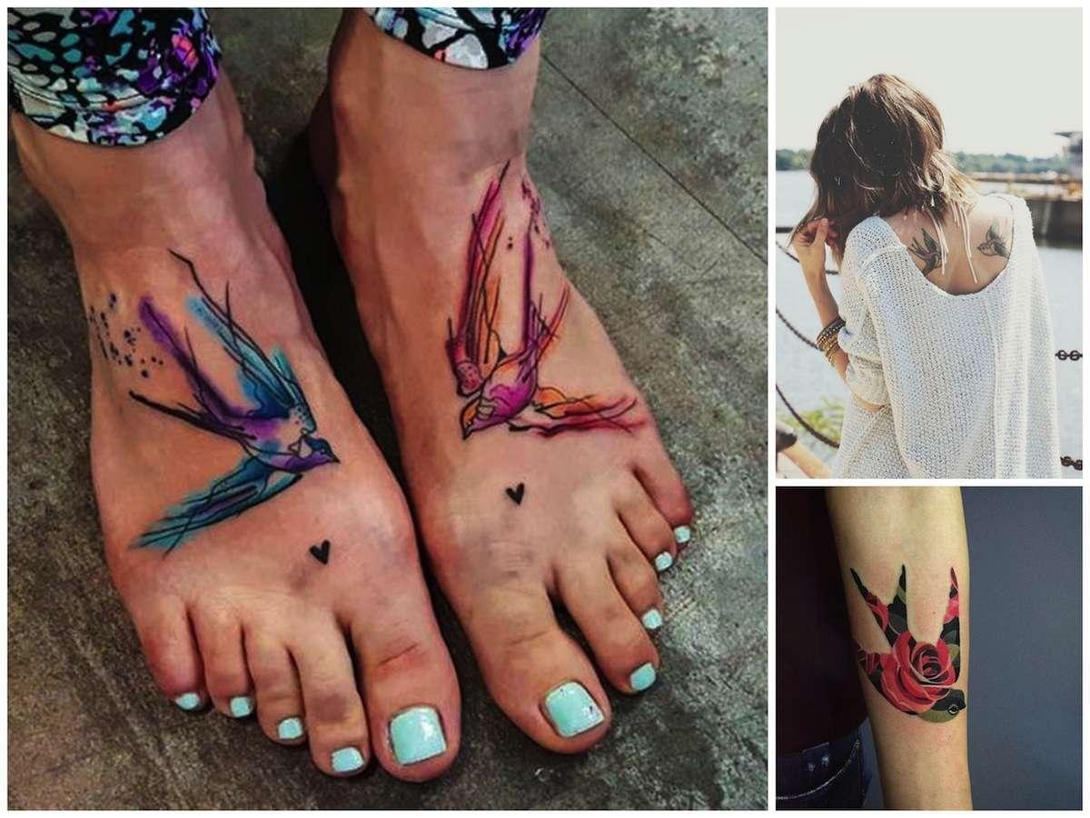 Tatuaggi con le rondini, i più belli