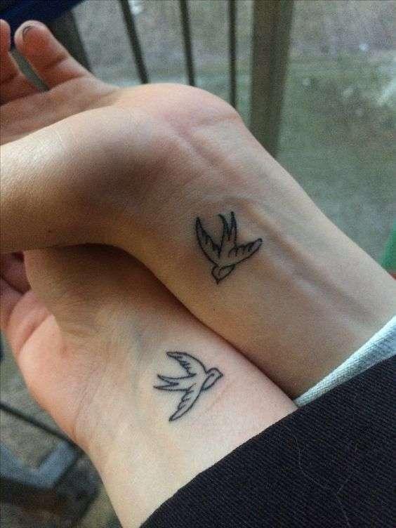 Tatuaggi con rondini sul polso