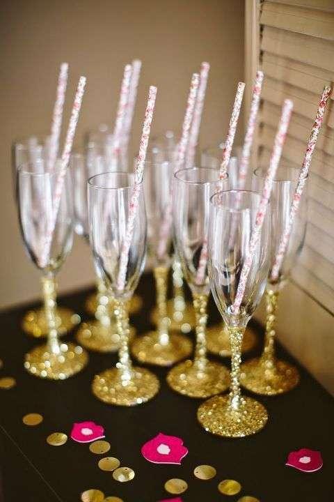 Bicchieri glitterati
