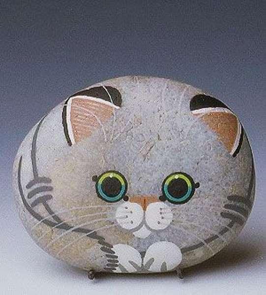 Gatto con sasso