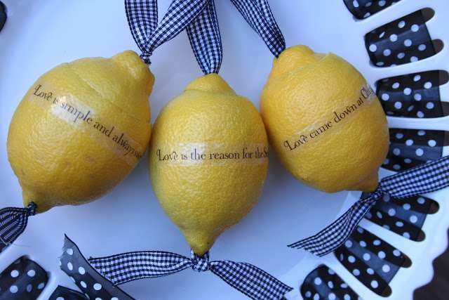 Messaggi su limoni