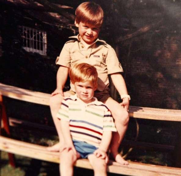 William e Harry da bambini
