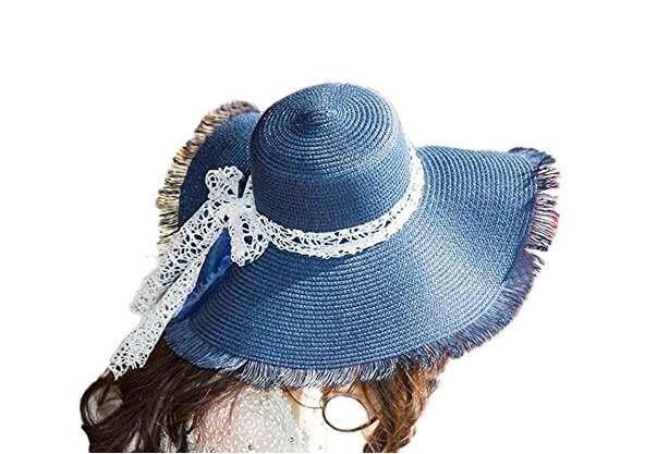 Cappello di paglia blu Leisial