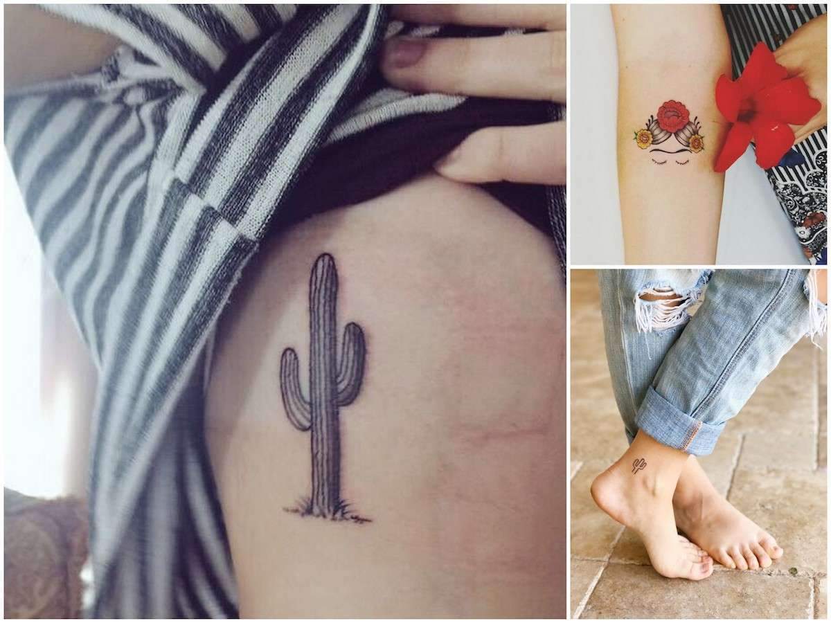 Tatuaggi con i cactus, i più belli