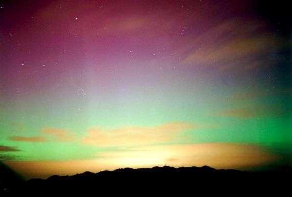 Aurora australe in Nuova Zelanda