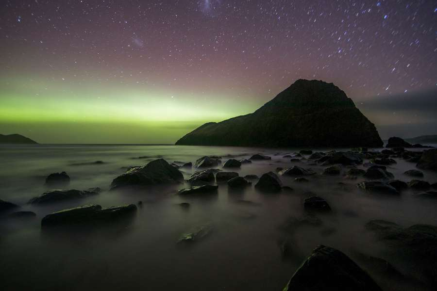 Aurora australe in Tasmania