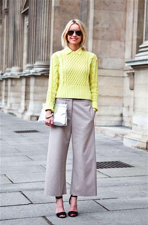 Look bon ton con pantaloni culotte