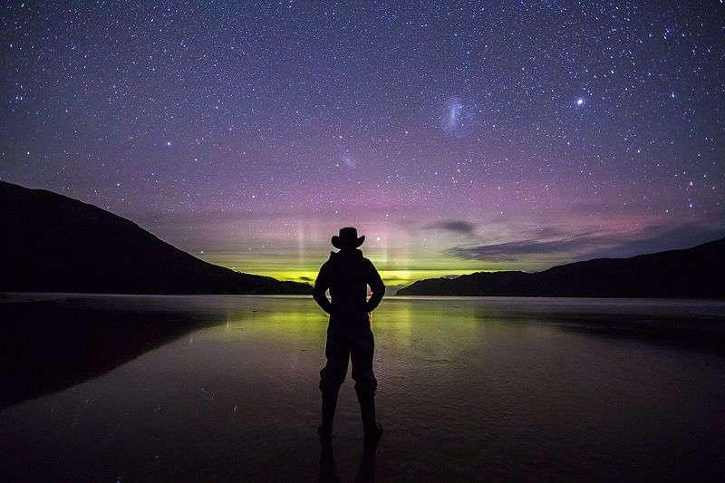 Luci aurora australe in Tasmania